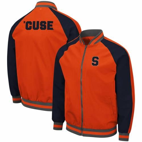 COLOSSEUM シラキュース 橙 オレンジ メンズファッション コート ジャケット メンズ 【 Syracuse Orange Kent Full-zip Bomber Jacket - Orange 】 Orange