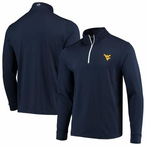 SOUTHERN TIDE バージニア パフォーマンス 紺 ネイビー メンズファッション コート ジャケット メンズ 【 West Virginia Mountaineers Gameday Quarter-zip Performance Jacket - Navy 】 Navy