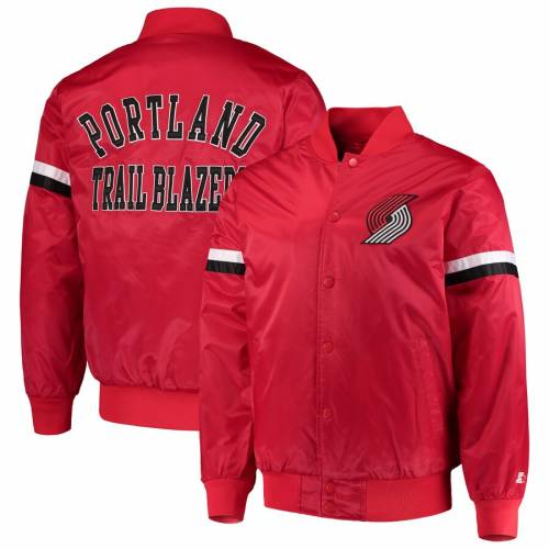 スターター STARTER ポートランド サテン 赤 レッド メンズファッション コート ジャケット メンズ 【 Portland Trail Blazers The Champ Varsity Satin Jacket - Red 】 Red