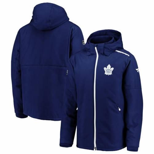 FANATICS BRANDED トロント オーセンティック プロ メンズファッション コート ジャケット メンズ 【 Toronto Maple Leafs Authentic Pro Rinkside Full-zip Parka Jacket - Blue/white 】 Blue/white