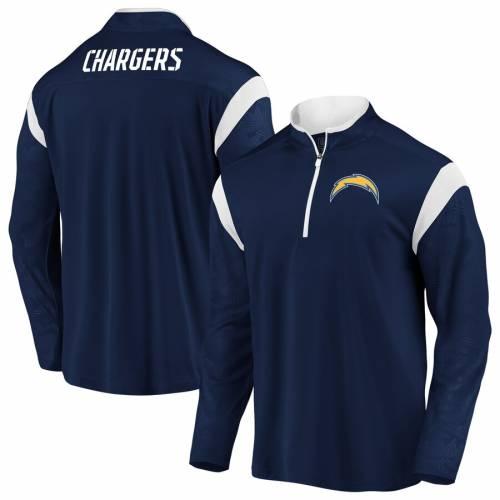 NFL PRO LINE BY FANATICS BRANDED チャージャーズ ディフェンダー 紺 ネイビー メンズファッション コート ジャケット メンズ 【 Los Angeles Chargers Iconic Defender Mission Quarter-zip Pullover Jacket - Navy 】 Na