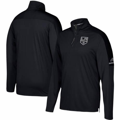 アディダス ADIDAS キングス オーセンティック プロ 黒 ブラック メンズファッション コート ジャケット メンズ 【 Los Angeles Kings Authentic Pro Quarter-zip Jacket - Black 】 Black