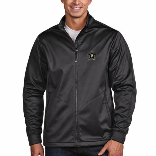 ANTIGUA ゴルフ チャコール メンズファッション コート ジャケット メンズ 【 Vanderbilt Commodores Golf Full-zip Jacket - Charcoal 】 Charcoal