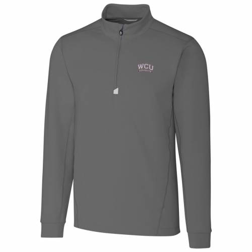 CUTTER & BUCK カロライナ 灰色 グレー グレイ メンズファッション コート ジャケット メンズ 【 Western Carolina Catamounts Cutter And Buck Collegiate Big And Tall Traverse Half-zip Jacket - Gray 】 Gray
