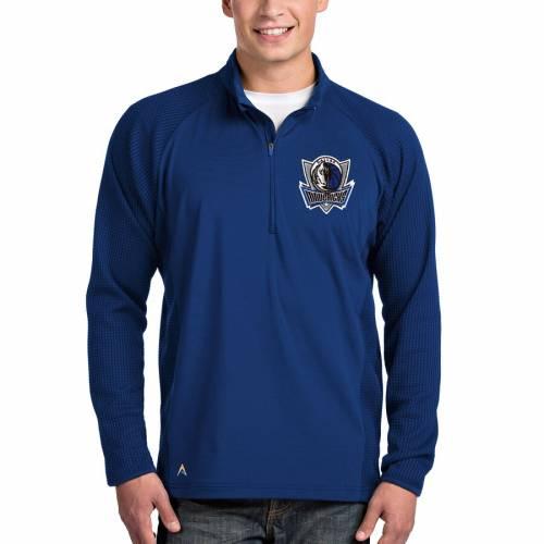 ANTIGUA ダラス マーベリックス メンズファッション コート ジャケット メンズ 【 Dallas Mavericks Sonar Quarter-zip Pullover Jacket - Royal 】 Royal