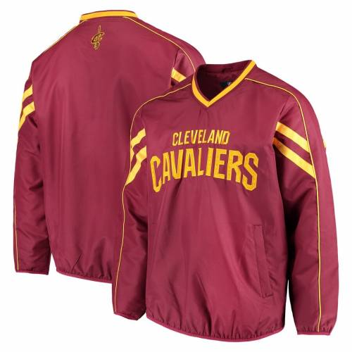 G-III SPORTS BY CARL BANKS クリーブランド キャバリアーズ 赤 レッド ゾーン ブイネック メンズファッション コート ジャケット メンズ 【 Cleveland Cavaliers Red Zone Wordmark V-neck Pullover Jacket - Wine