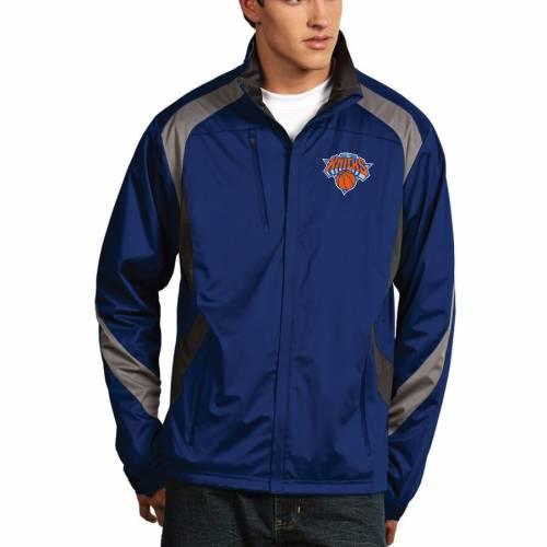 ANTIGUA ニックス メンズファッション コート ジャケット メンズ 【 New York Knicks Tempest Desert Dry Full Zip Jacket - Royal 】 Royal