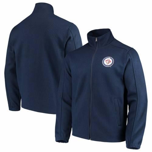 G-III SPORTS BY CARL BANKS ジェッツ 紺 ネイビー メンズファッション コート ジャケット メンズ 【 Winnipeg Jets Audible Full-zip Jacket - Navy 】 Navy
