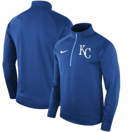 ナイキ NIKE カンザス シティ ロイヤルズ サーマ メンズファッション コート ジャケット メンズ 【 Kansas City Royals Therma Top Bench Half-zip Pullover Jacket - Royal 】 Royal