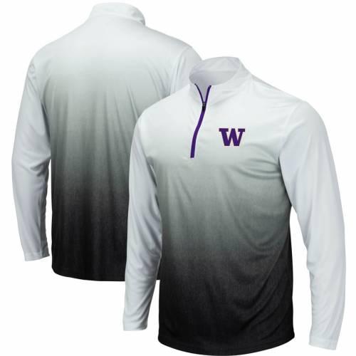 COLOSSEUM ワシントン マジック チーム ロゴ 灰色 グレー グレイ メンズファッション コート ジャケット メンズ 【 Washington Huskies Magic Team Logo Quarter-zip Jacket - Gray 】 Gray