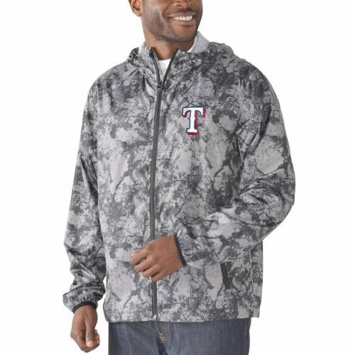 G-III SPORTS BY CARL BANKS テキサス レンジャーズ チャコール メンズファッション コート ジャケット メンズ 【 Texas Rangers Wind Chill Lightweight Full-zip Jacket - Charcoal 】 Charcoal