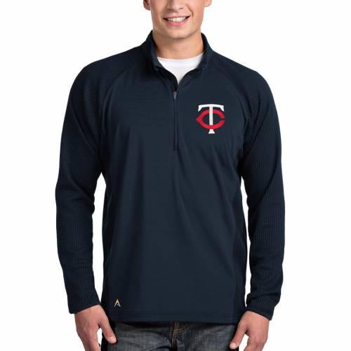 ANTIGUA ミネソタ ツインズ 紺 ネイビー メンズファッション コート ジャケット メンズ 【 Minnesota Twins Sonar Quarter-zip Pullover Jacket - Navy 】 Navy