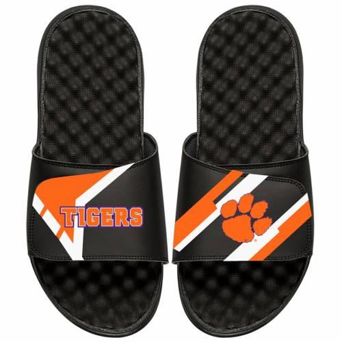 ISLIDE タイガース 子供用 サンダル 黒 ブラック キッズ ベビー マタニティ ジュニア 【 Clemson Tigers Youth Starter Jacket Slide Sandals - Black 】 Black