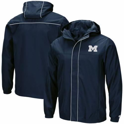 COLOSSEUM ミシガン 紺 ネイビー メンズファッション コート ジャケット メンズ 【 Michigan Wolverines Giant Slalom Full-zip Jacket - Navy 】 Navy