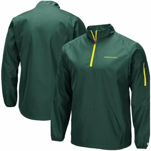 COLOSSEUM オレゴン 緑 グリーン メンズファッション コート ジャケット メンズ 【 Oregon Ducks Tips Half-zip Wind Jacket - Green 】 Green