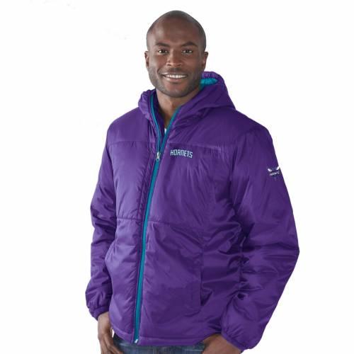 G-III SPORTS BY CARL BANKS シャーロット ホーネッツ 紫 パープル メンズファッション コート ジャケット メンズ 【 Charlotte Hornets Top Of The Key Hooded Full-zip Jacket - Purple 】 Purple