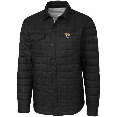 CUTTER & BUCK ジャクソンビル ジャガース 黒 ブラック メンズファッション コート ジャケット メンズ 【 Jacksonville Jaguars Cutter And Buck Big And Tall Rainier Shirt Jacket - Black 】 Black