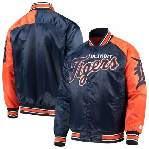 G-III SPORTS BY CARL BANKS デトロイト タイガース スプリング トレーニング ラグラン メンズファッション コート ジャケット メンズ 【 Detroit Tigers Starter Dugout Spring Training Raglan Full-snap Jacket - N