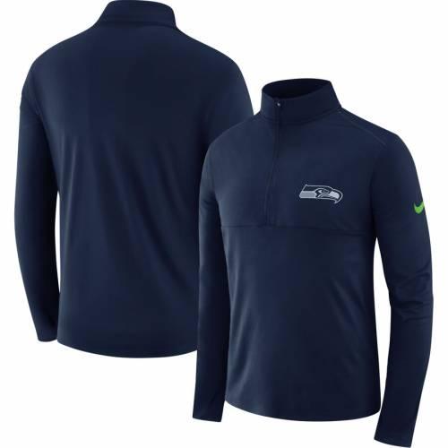 ナイキ NIKE シアトル シーホークス ギア エレメント パフォーマンス 紺 ネイビー メンズファッション コート ジャケット メンズ 【 Seattle Seahawks Fan Gear Element Half-zip Performance Jacket - Navy