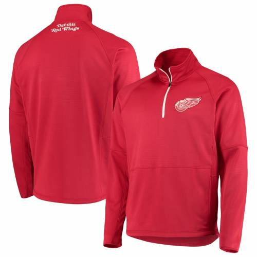G-III SPORTS BY CARL BANKS デトロイト 赤 レッド ラグラン メンズファッション コート ジャケット メンズ 【 Detroit Red Wings Challenge Raglan Half-zip Pullover Jacket - Red 】 Red