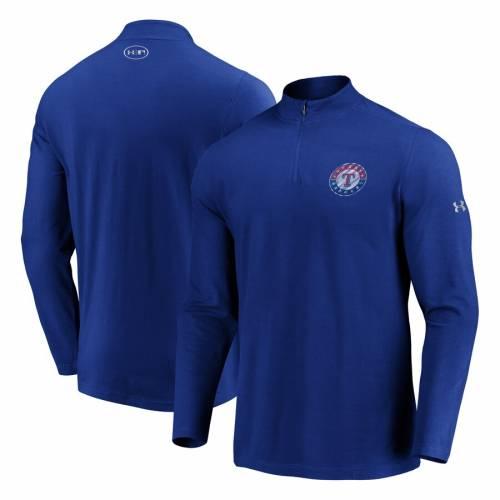 アンダーアーマー UNDER ARMOUR テキサス レンジャーズ パッション メンズファッション コート ジャケット メンズ 【 Texas Rangers Passion Alternate Left Chest 1/4-zip Jacket - Royal 】 Royal