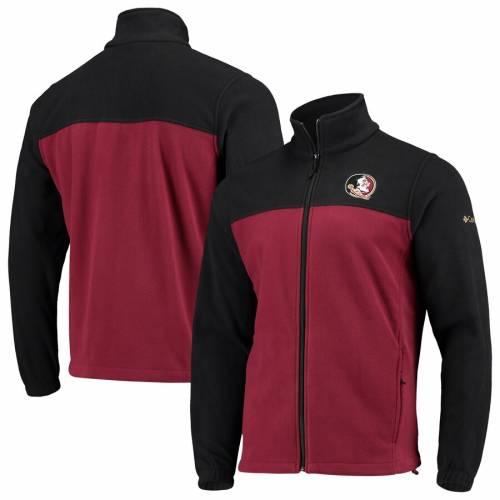 コロンビア COLUMBIA フロリダ スケートボード フリース チーム メンズファッション コート ジャケット メンズ 【 Florida State Seminoles Flanker Iii Fleece Team Full-zip Jacket - Black/garnet 】 Black/garnet