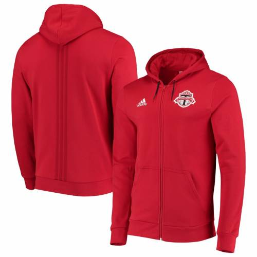 アディダス ADIDAS トロント 赤 レッド メンズファッション コート ジャケット メンズ 【 Toronto Fc 2019 Full-zip Travel Jacket - Red 】 Red