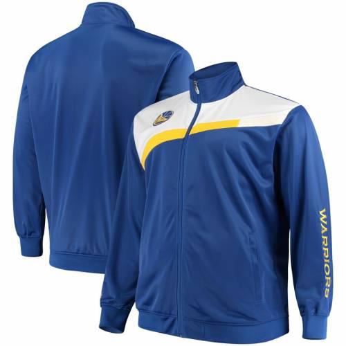 マジェスティック MAJESTIC スケートボード ウォリアーズ トラック メンズファッション コート ジャケット メンズ 【 Golden State Warriors Tricot Full-zip Track Jacket - Royal/white 】 Royal/white