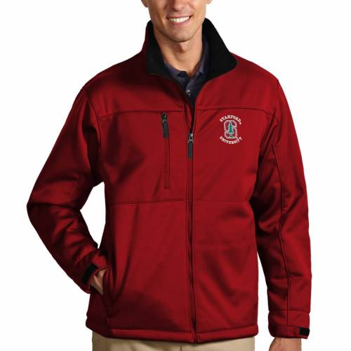 ANTIGUA スタンフォード 赤 カーディナル メンズファッション コート ジャケット メンズ 【 Stanford Cardinal Traverse Full-zip Jacket - Cardinal 】 Cardinal
