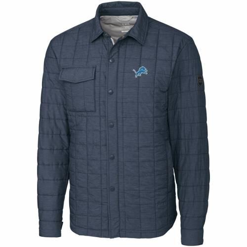 CUTTER & BUCK デトロイト ライオンズ チャコール メンズファッション コート ジャケット メンズ 【 Detroit Lions Cutter And Buck Big And Tall Rainier Shirt Jacket - Charcoal 】 Charcoal