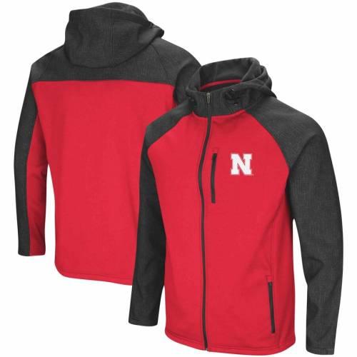 COLOSSEUM Hut! メンズファッション コート ジャケット メンズ 【 Nebraska Cornhuskers Hut! Full-zip Jacket - Scarlet 】 Scarlet