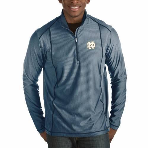ANTIGUA 紺 ネイビー メンズファッション コート ジャケット メンズ 【 Notre Dame Fighting Irish Tempo Half-zip Pullover Big And Tall Jacket - Navy 】 Navy