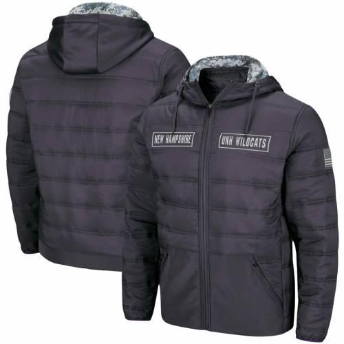 COLOSSEUM チャコール メンズファッション コート ジャケット メンズ 【 New Hampshire Wildcats Oht Military Appreciation Full-zip Puffer Jacket - Charcoal 】 Charcoal