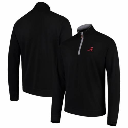 JOHNNIE-O アラバマ 黒 ブラック メンズファッション コート ジャケット メンズ 【 Alabama Crimson Tide Sully Quarter-zip Pullover Jacket - Black 】 Black