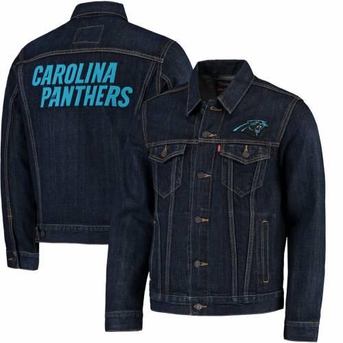 リーバイス LEVI'S カロライナ パンサーズ デニム トラッカー 青 ブルー メンズファッション コート ジャケット メンズ 【 Carolina Panthers Sports Denim Trucker Jacket - Blue 】 Blue