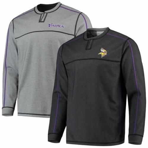 TOMMY BAHAMA ミネソタ バイキングス フィールド リバーシブル ニット 黒 ブラック メンズファッション コート ジャケット メンズ 【 Minnesota Vikings Field Goal Flip Abaco Reversible Pullover Knit Jacket -