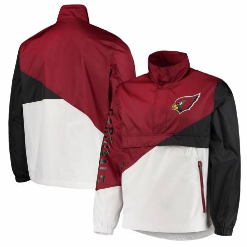 G-III SPORTS BY CARL BANKS アリゾナ カーディナルス チーム メンズファッション コート ジャケット メンズ 【 Arizona Cardinals Double Team Half-zip Pullover Jacket - Cardinal/white 】 Cardinal/white