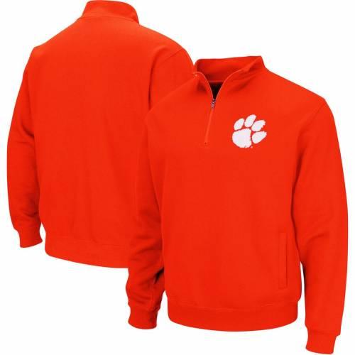 COLOSSEUM タイガース チーム 橙 オレンジ メンズファッション コート ジャケット メンズ 【 Clemson Tigers Big And Tall Team Quarter-zip Pullover Jacket - Orange 】 Orange