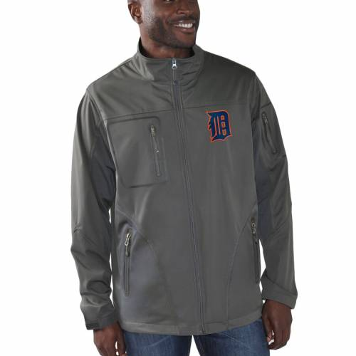 G-III SPORTS BY CARL BANKS デトロイト タイガース スクリメージ チャコール メンズファッション コート ジャケット メンズ 【 Detroit Tigers Scrimmage Full-zip Jacket - Charcoal 】 Charcoal