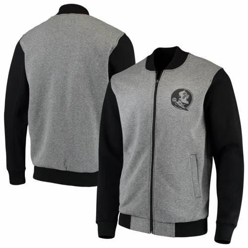 G-III SPORTS BY CARL BANKS フロリダ スケートボード メンズファッション コート ジャケット メンズ 【 Florida State Seminoles Midfield Transitional Full-zip Jacket - Gray/black 】 Gray/black