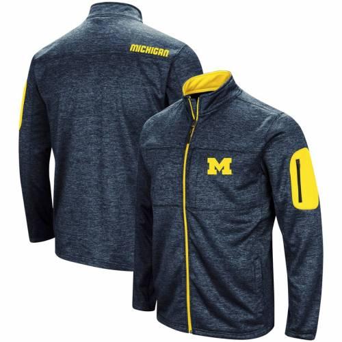 COLOSSEUM ミシガン 紺 ネイビー メンズファッション コート ジャケット メンズ 【 Michigan Wolverines Glacier Full Zip Jacket - Navy 】 Navy