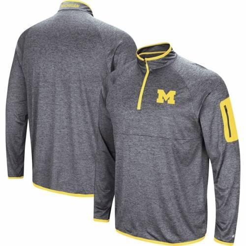 COLOSSEUM ミシガン 紺 ネイビー メンズファッション コート ジャケット メンズ 【 Michigan Wolverines Amnesia Quarter-zip Pullover Jacket - Navy 】 Navy