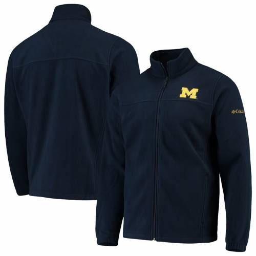 コロンビア COLUMBIA ミシガン フリース チーム 紺 ネイビー メンズファッション コート ジャケット メンズ 【 Michigan Wolverines Flanker Iii Fleece Team Full-zip Jacket - Navy 】 Navy