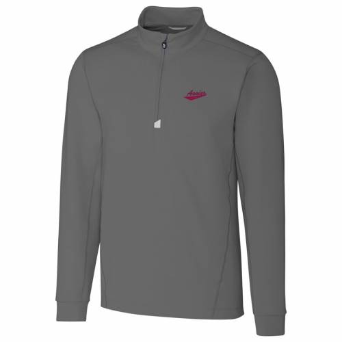 CUTTER & BUCK スケートボード カレッジ 灰色 グレー グレイ メンズファッション コート ジャケット メンズ 【 New Mexico State Aggies Cutter And Buck Big And Tall College Vault Traverse Quarter-zip Pullover Jack