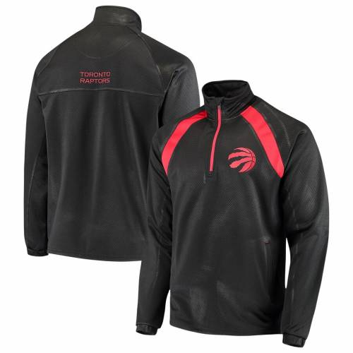 G-III SPORTS BY CARL BANKS トロント ラプターズ ハイ インパクト 黒 ブラック メンズファッション コート ジャケット メンズ 【 Toronto Raptors High Impact Quarter-zip Pullover Jacket - Black 】 Black