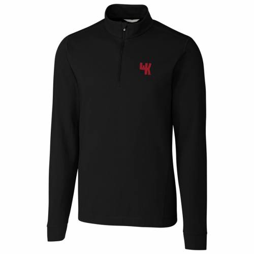 CUTTER & BUCK ケンタッキー カレッジ 黒 ブラック メンズファッション コート ジャケット メンズ 【 Western Kentucky Hilltoppers Cutter And Buck Big And Tall College Vault Advantage Tri-blend Quarter-zip Pullover J