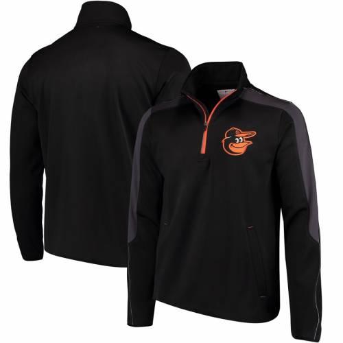 G-III SPORTS BY CARL BANKS ボルティモア オリオールズ 黒 ブラック メンズファッション コート ジャケット メンズ 【 Baltimore Orioles Synergy Half-zip Pullover Jacket - Black 】 Black