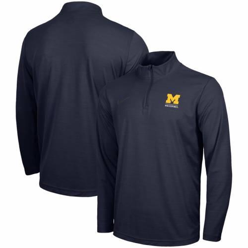 ナイキ NIKE ミシガン パフォーマンス 紺 ネイビー メンズファッション コート ジャケット メンズ 【 Michigan Wolverines Intensity Quarter-zip Pullover Performance Jacket - Navy 】 Navy