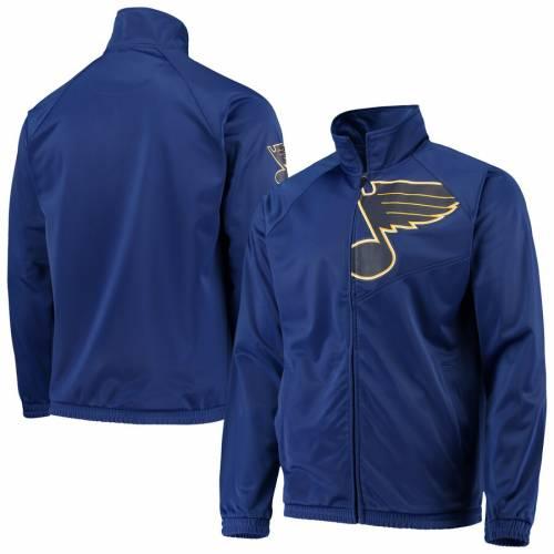G-III SPORTS BY CARL BANKS トラック 青 ブルー St. メンズファッション コート ジャケット メンズ 【 St. Louis Blues Synergy Full-zip Track Jacket - Blue 】 Blue