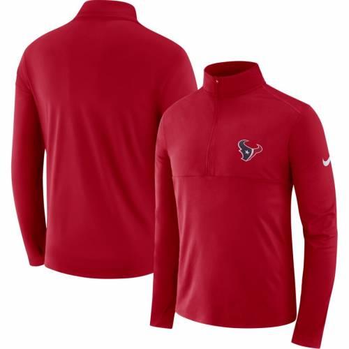 ナイキ NIKE ヒューストン テキサンズ ギア エレメント パフォーマンス 赤 レッド メンズファッション コート ジャケット メンズ 【 Houston Texans Fan Gear Element Half-zip Performance Jacket - Red 】 R